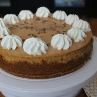 Pumpkin Cheesecake with Cajeta Sauce