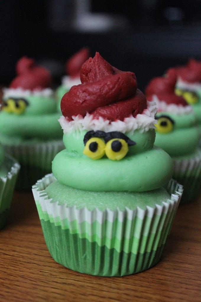 Grinch Cupcakes | Nina Kneads to Bake