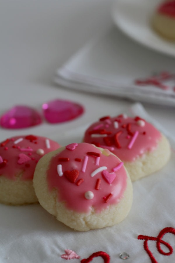 Shortbread Cookies with Raspberry Icing | Nina Kneads to Bake