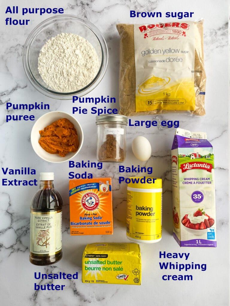Scone ingredients.