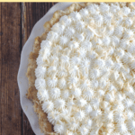 A view of the top of a pie.