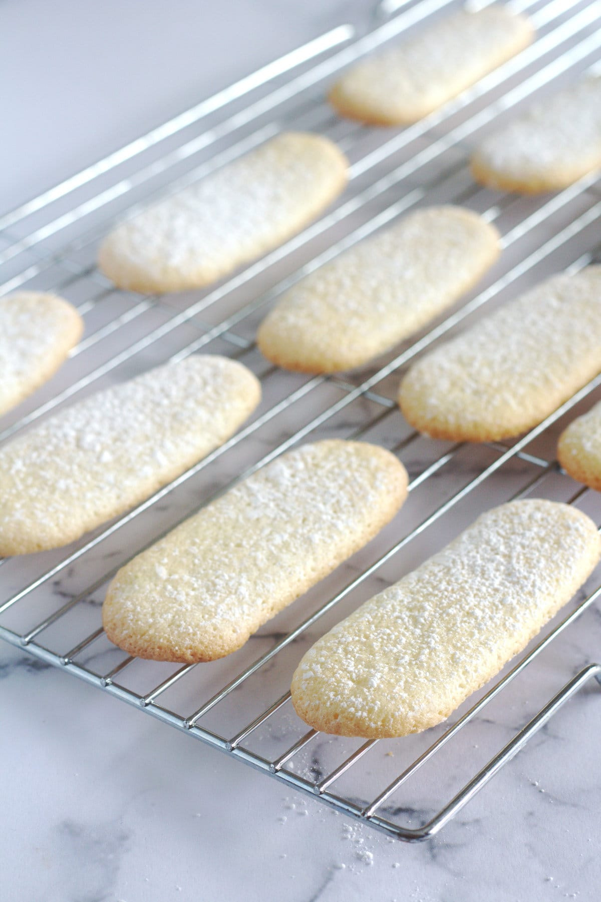 Biscuits on a wire cooling rack.